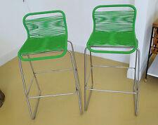 "2 Verner Panton ""Tivoli"" stools Montana Denmark post-1940 steel & plastic cord"