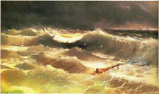 Nice Oil Ivan Constantinovich Aivazovsky - Tempest with Shipwreck ocean waves