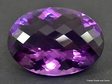 61.12 ct Top African Amethyst Faceted Gemstone Facettierter Edelstein Ametista