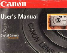 Canon Powershot A5 Digital Camera Instruction Manual-Power Shot-1998