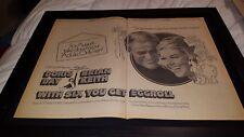With Six You Get Eggroll Doris Day Rare Original Promo Poster Ad Framed!