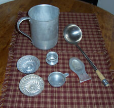 VINTAGE Aluminum Kitchen LOT 6 Pieces Pitcher, Spoon Rest, Toothpick Holder etc.