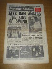 MELODY MAKER 1961 FEBRUARY 4 JAZZ BAN RED PRICE NEWPORT FESTIVAL LYTTELTON +