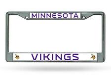 NFL Minnesota Vikings Chrome License Plate Frame Thin Letters