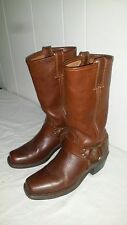 FRYE Women's Size 6 M Harness 12R Cognac Brown Rugged Leather BOOTS 77308BRW