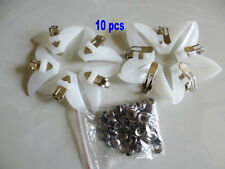 10 Pcs White Tie Clips Clip For Ties Plastic Tie Clips On Necktie New