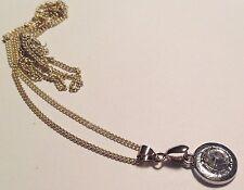 collier pendentif solitaire cristal diamant couleur argent brillance chaîne 492