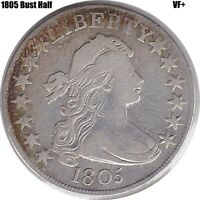 1805 Draped Bust Half Dollar in VF+