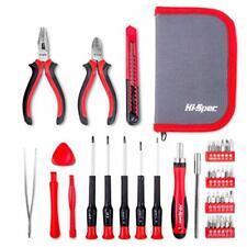 Hi-Spec 38 piezas de precisión Kit de herramienta de reparación de equipos electrónicos. Mango de controladores de trinquete