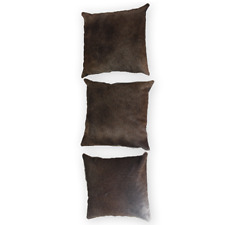 Authentic Cow Pelt Pillow Covers Grey Brown 16x16 in Natural Cowhide Pillow Case