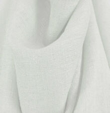 """Drapery Upholstery Fabric 108"""" Extra Wide Nubby Textured Rustic Sheer - White"""