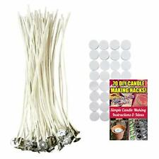 Cozyours 8 Inch Candle Wicks with Wick Stickers 50/50-Pack for Candle Making ...