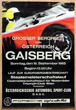 """1 orginal Porsche Plakat Renn Poster """"Grosser Bergpreis"""" Porsche 904 GTS 1965"""