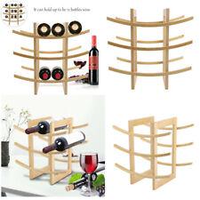 12 Bottle Red Wine Rack Bar European Style Wood Display Shelf Stand BS