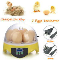 7 Eggs Automatic Digital Egg Incubator Chicken Bird Hatchers Temperature Control