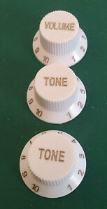 Strat Style Guitar Volume/Tone/Tone Sets White