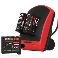 Wicked Chili 5in1 GoPro Hero 4 Starter Set - Ladegerät + 3 Akkus + Ladekabel