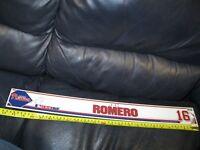J.C. Romero Philadelphia Phillies Game Used Locker Name Plate #16