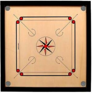 Carrom Board (32 Inches) 4 MM Ply with coins,striker,carrom powder.