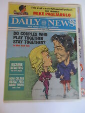 COMIC SECTION WITH MIKE PAGLIARULO POSTER NEW YORK DAILY NEWS NEWSPAPER 1986