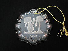 1991 Precious Moments Lead Crystal Dated Ornament Enesco Collectible *