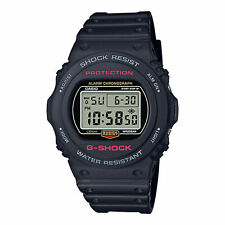 Casio G-SHOCK DW5750E-1 Back-to-Original Basics Black Resin Digital Men's Watch