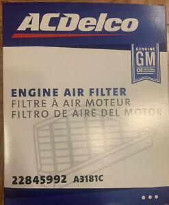 ACDelco GM Original Equipment A3181C Air Filter AC Delco GMC Cadillac Chevrolet