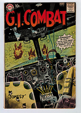 GI COMBAT #86 3.0 SLIGHT CONSERVED GREY TONE COVER 1961 OFF-WHITE PAGES