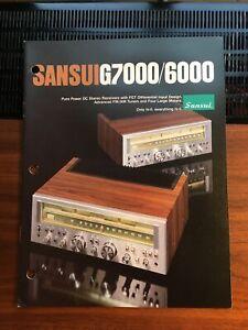 Rare sansui dealer brochure Vintage Original Nice Condition G7000 G6000 Mint-