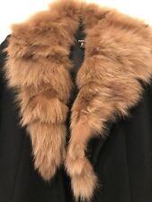 Miss Sixty black Wool Coat With Fur Collar Small Zara