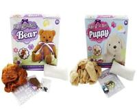 SET Make Your Own Plush Build A Teddy Bear & Puppy Dog Complete Soft Toy Craft