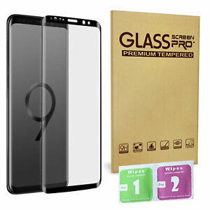 For Samsung Galaxy S9 Plus 100% Genuine Tempered Glass Screen Protector Black UK