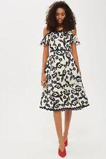 Topshop Cornelli Airtex Bardot Dress (size UK 18=US 14)