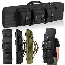 "37"" 47"" 36"" 46"" Tactical Double Rifle Bag Gun Range Padded Soft Case Backpack"