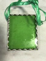 Christmas Tree Green Stained Glass Ornament Small Holiday Suncatcher Decoration