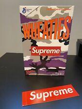 New listing Supreme 2021 Wheaties Cereal Box Logo Purple Camo