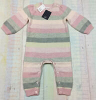 Baby Gap Girls 6-12 Month Pastel Striped Sweater Romper Jumpsuit. Nwt