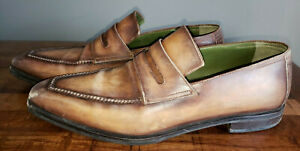 Berluti Hand Stitched Leather Andy Loafer Brown SZ 9.5 US 10