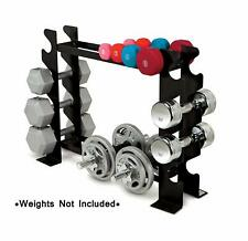 3 Tier Dumbbell Rack Stand Fitness Weights Store Equipment Weight Gym Workout