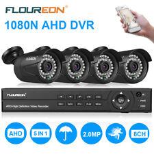 FLOUREON 1080P IP Caméra Vidéo Surveillance Extérieur Sécurité Dôme 8CH DVR FR