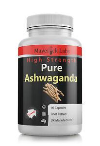Ashwagandha Capsules Root Extract Vegan Safe - Fatigue Stress Indian Ginseng
