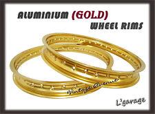 [LG3996] KAWASAKI F5 F81M F9 1970-1975 ALUMINIUM (GOLD) FRONT + REAR WHEEL RIM