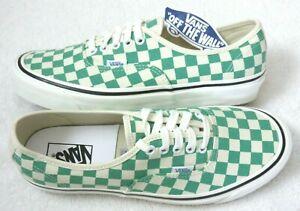 Vans Men's Authentic 44 Dx Anaheim Factory Checker Green White shoes Size 9.5