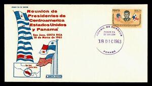DR WHO 1963 PANAMA FDC JOHN F KENNEDY JFK A SMITH COVER CACHET  g21904