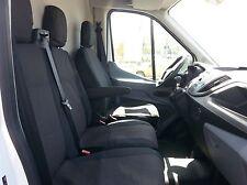 Coprisedili Neri Tessuto di Qualità Per Ford Transit Custom 2013 +