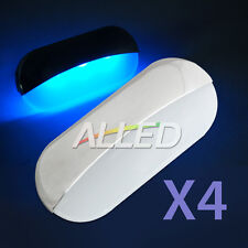 4X12V Blue Waterproof Semi Oval LED Indicator/Courtesy/Step/Stairs Light for RV