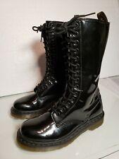 Dr Martens 14 Eye boots 11820 Women's Size 7 US Black Patent Lamper  EU 38