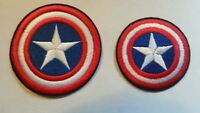 Captain America Marvel Comics Patch Patches~2 Types~Embroidered~Iron or Sew On