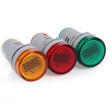 22mmAD16-22DSV AC 60-500V LED Voltímetro Medidor de Voltaje Indicador Luz PilFsW