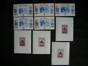 Belgium 1942.Souvenir sheet collection of 9.MH.Very Fine